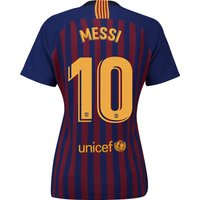 Barcelona Home Stadium Shirt 2018-19 - Womens with Messi 10 printing