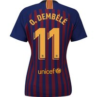 Barcelona Home Stadium Shirt 2018-19 - Womens with O. Dembélé 11 printing