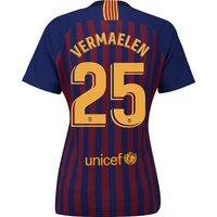 Barcelona Home Stadium Shirt 2018-19 - Womens with Vermaelen 25 printing