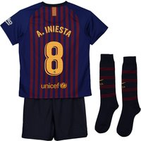 Barcelona Home Stadium Kit 2018-19 - Little Kids with A. Iniesta  8 printing