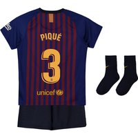 Barcelona Home Stadium Kit 2018-19 - Infants with Piqué 3 printing