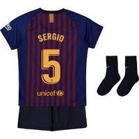 Barcelona Home Stadium Kit 2018-19 - Infants with Sergio 5 printing