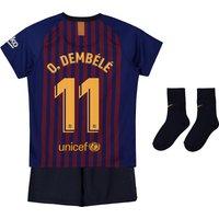 Barcelona Home Stadium Kit 2018-19 - Infants with O. Dembélé 11 printing