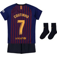 Barcelona Home Stadium Kit 2018-19 - Infants with Coutinho 7 printing
