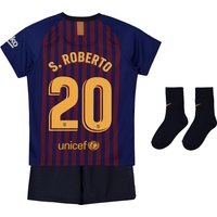 Barcelona Home Stadium Kit 2018-19 - Infants with S.Roberto 20 printing