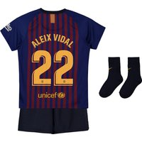 Barcelona Home Stadium Kit 2018-19 - Infants with Aleix Vidal 22 printing