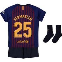 Barcelona Home Stadium Kit 2018-19 - Infants with Vermaelen 25 printing
