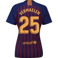 Barcelona Home Vapor Match Shirt 2018-19 - Womens with Vermaelen 25 printing