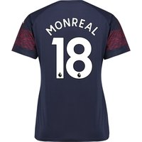Arsenal Away Shirt 2018-19 - Womens with Monreal 18 printing