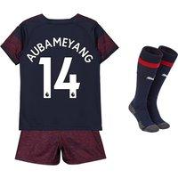 Arsenal Away Mini Kit 2018-19 with Aubameyang 14 printing
