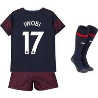 Arsenal Away Mini Kit 2018-19 with Iwobi 17 printing