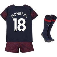 Arsenal Away Mini Kit 2018-19 with Monreal 18 printing