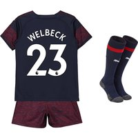 Arsenal Away Mini Kit 2018-19 with Welbeck 23 printing
