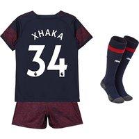 Arsenal Away Mini Kit 2018-19 with Xhaka 34 printing