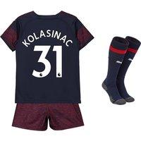 Arsenal Away Mini Kit 2018-19 with Kolasinac 31 printing