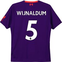 Liverpool Away Shirt 2018-19 - Kids with Wijnaldum 5 printing