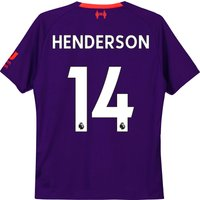 Liverpool Away Shirt 2018-19 - Kids with Henderson 14 printing