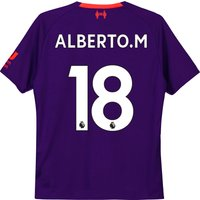 Liverpool Away Shirt 2018-19 - Kids with Alberto.M 18 printing