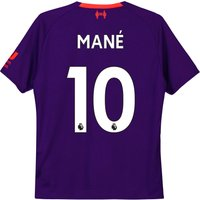 Liverpool Away Shirt 2018-19 - Kids with Mané 10 printing