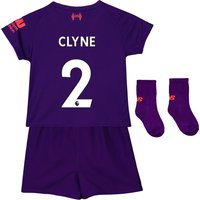 Liverpool Away Baby Kit 2018-19 with Clyne 2 printing