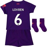 Liverpool Away Baby Kit 2018-19 with Lovren 6 printing