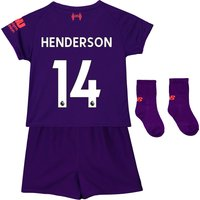 Liverpool Away Baby Kit 2018-19 with Henderson 14 printing