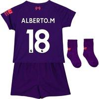 Liverpool Away Baby Kit 2018-19 with Alberto.M 18 printing