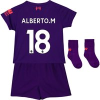 Liverpool Away Baby Kit 2018-19 with Alberto.M 18 printing