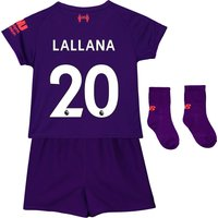 Liverpool Away Baby Kit 2018-19 with Lallana 20 printing