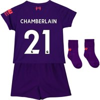 Liverpool Away Baby Kit 2018-19 with Chamberlain 21 printing