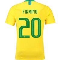 Brazil Home Vapor Match Shirt 2018 with Firmino 20 printing