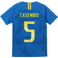 Brazil Away Stadium Shirt 2018 - Kids with Casemiro 5 printing