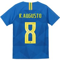 Brazil Away Stadium Shirt 2018 - Kids with R.Augusto 8 printing