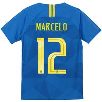 Brazil Away Stadium Shirt 2018 - Kids with Marcelo 12 printing