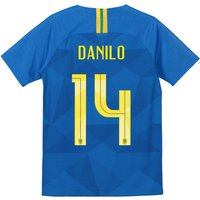 Brazil Away Stadium Shirt 2018 - Kids with Danilo 14 printing