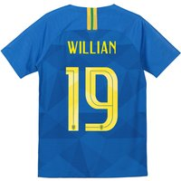 Brazil Away Stadium Shirt 2018 - Kids with Willian 19 printing