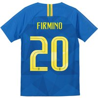 Brazil Away Stadium Shirt 2018 - Kids with Firmino 20 printing