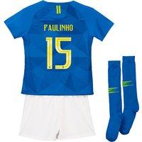 Brazil Away Stadium Kit 2018 - Infants with Paulinho 15 printing