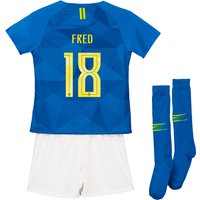 Brazil Away Stadium Kit 2018 - Infants with Fred 18 printing