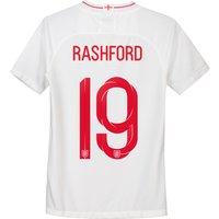 England Home Stadium Shirt 2018 - Kids with Rashford 19 printing