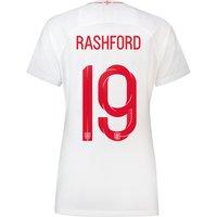 England Home Stadium Shirt 2018 - Womens with Rashford 19 printing
