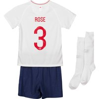 England Home Stadium Kit 2018 - Infants with Rose 3 printing