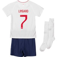 England Home Stadium Kit 2018 - Infants with Lingard 7 printing
