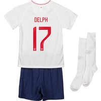 England Home Stadium Kit 2018 - Infants with Delph 17 printing