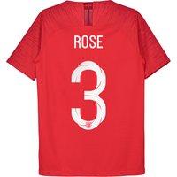 England Away Vapor Match Shirt 2018 - Kids with Rose 3 printing
