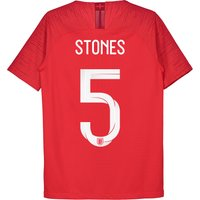 England Away Vapor Match Shirt 2018 - Kids with Stones 5 printing