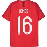 England Away Vapor Match Shirt 2018 - Kids with Jones 16 printing