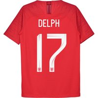 England Away Vapor Match Shirt 2018 - Kids with Delph 17 printing