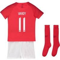 England Away Stadium Kit 2018 - Infants with Vardy 11 printing