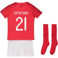 England Away Stadium Kit 2018 - Infants with Loftus-Cheek 21 printing